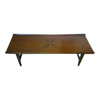 Lane Mid-Century Modern Rosewood Coffee Table For Sale