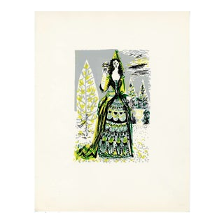 """""""People of Versailles"""", Limited Edition Serigraph Circa 1952 (5) For Sale"""