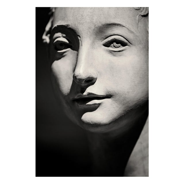 Fiesole III - a monotone image of an Italian plaster cast (Portrait of a Young Woman). A sepia toned black and white image...