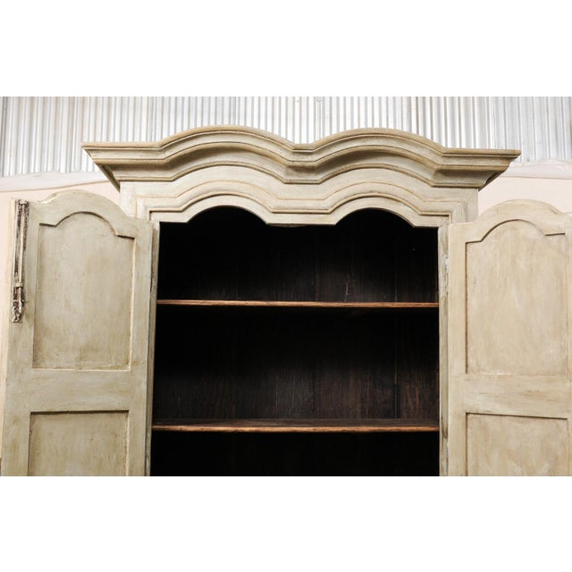 Brazilian Painted Wood Storage Cabinet For Sale - Image 9 of 12