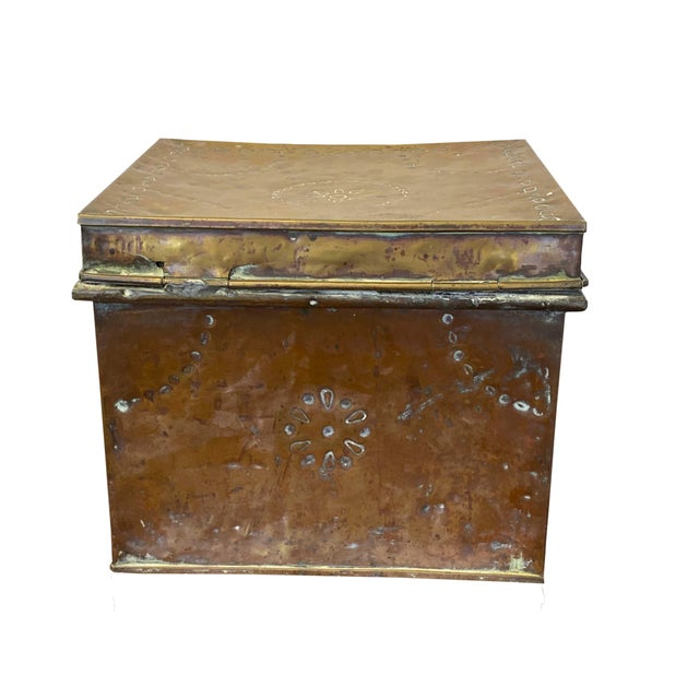 Antique Brass Slipper Warming Box For Sale - Image 4 of 8