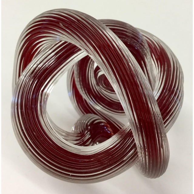 Red Zanetti Murano Style Ruby Red Glass Knot For Sale - Image 8 of 8
