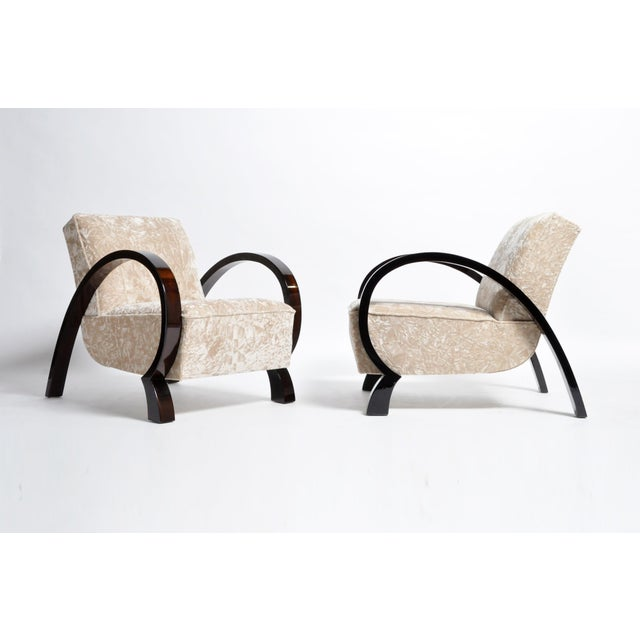 Hungarian Solid Walnut Armchairs - a Pair For Sale - Image 13 of 13