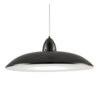 Black Bronze Saucer Ceiling Light For Sale