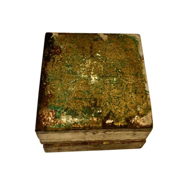 Antique Small Turn of the Century Florentine Box For Sale In Tampa - Image 6 of 7