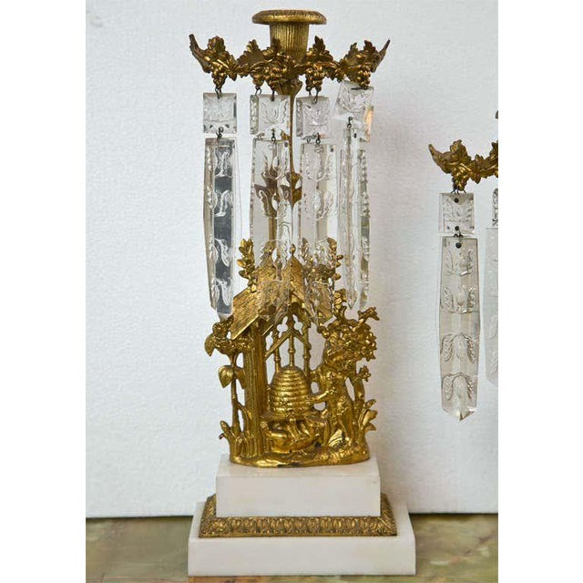 French Set of Three French Belle Époque Style Candelabras For Sale - Image 3 of 11