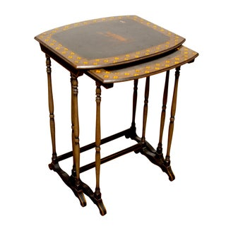 English Chinoiserie Nesting Tables For Sale