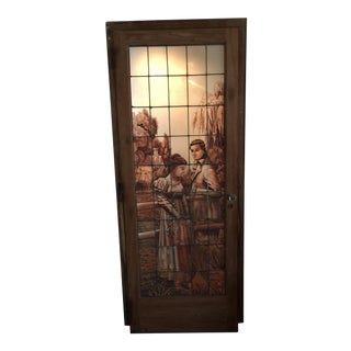 Antique Stained Glass Door For Sale