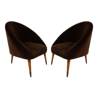 Mid-Century Gio Ponti Style Club Chairs-A Pair