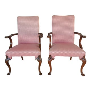 Hickory Chair Fireside Arm Chairs - a Pair For Sale