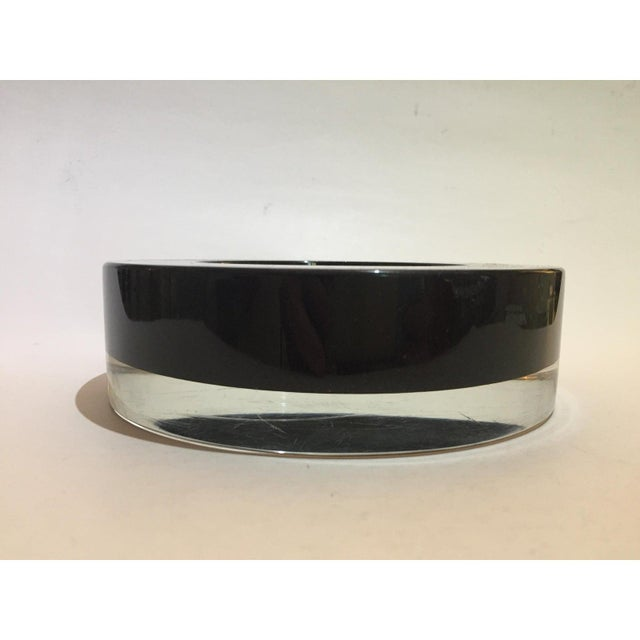 Mid-Century Modern Mid-Century Modern Archimede Seguso Murano Bowl Black Glass For Sale - Image 3 of 9