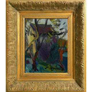 Jose Trujillo New Signed Canvas Modern Oil Painting Framed Impressionism Trail For Sale