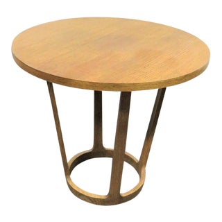 Baker Furniture Oak Mid Century Style Table For Sale