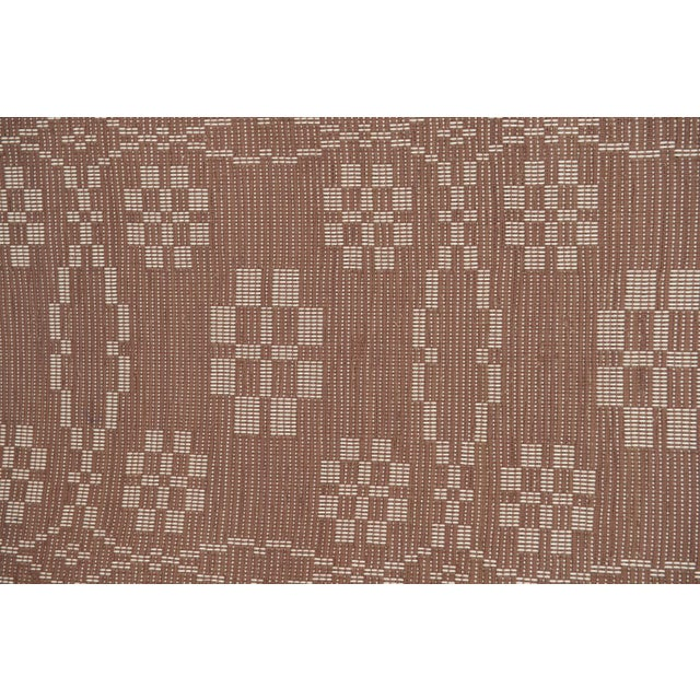 "Mid-Century Modern Handwoven Reversible Vintage Swedish Rug by Scandinavian Made 85"" x 27"" For Sale - Image 3 of 9"