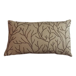 Linear Branch Embroidered Pillow For Sale