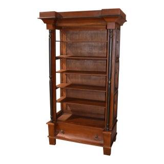Mahogany Empire Style Open Bookcase