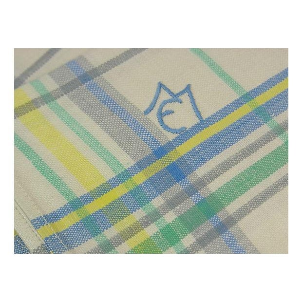 Blue Green Linen Monogrammed M/E Towels - Set of 6 - Image 2 of 4
