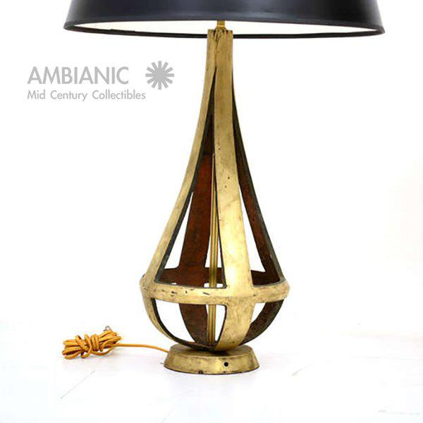 Pair of Brass Table Lamps Attributed to Arturo Pani - Image 5 of 5