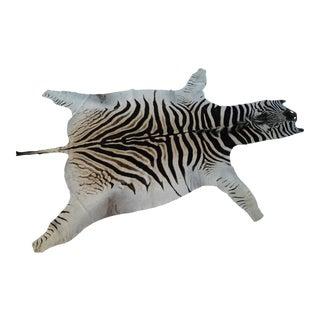 African Zebra Hide Rug - 9' X 6' For Sale
