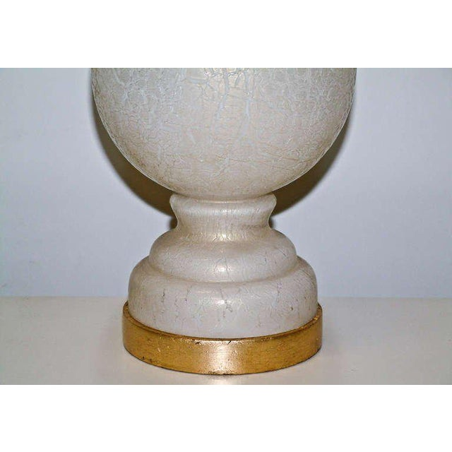 White & Gold Murano Glass Table Lamp For Sale In Richmond - Image 6 of 7