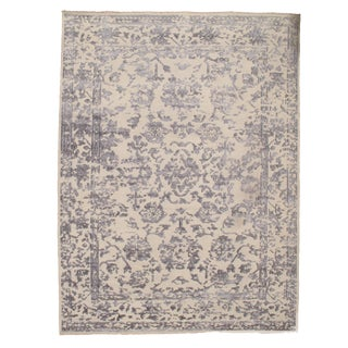 Pasargad N Y Hand Knotted Modern Silk Rug - 9' X 12' For Sale