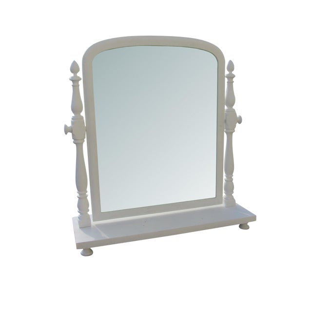 Antique Victorian Tilt Cottage Farmhouse Shaving Table Top Mirror - Image 1 of 9
