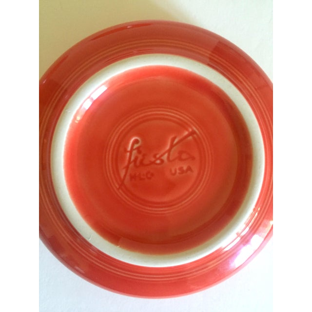 Vintage 1980's Fiesta Ware Homer Laughlin Persimmon Coral Coupe Cereal Soup Bowls - Set of 6 For Sale - Image 12 of 13