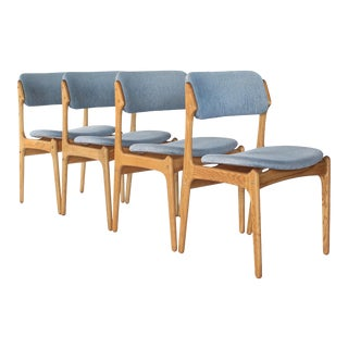 Erik Buch Mid-Century Danish Dining Chairs - Set of 4 For Sale