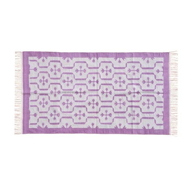 Boho Chic Meadowsweet Rug, 9x12, Purple & Light Gray For Sale - Image 3 of 3