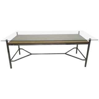 Leon Rosen for Pace Collection Chrome Desk For Sale