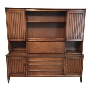 Willett Trans East Solid Cherry Dovetail Construction Wall Unit For Sale