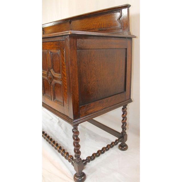 Large Antique Oak Jacobean Sideboard For Sale - Image 4 of 6