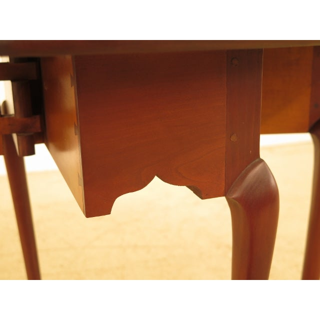 Brown Eldred Wheeler Cherry Queen Anne Drop Leaf Occasional Table For Sale - Image 8 of 13