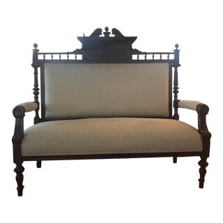 Early 19th Century Antique French Settee For Sale