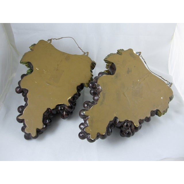 Plaster of Paris Grape Cluster Wall Pockets - A Pair - Image 7 of 11