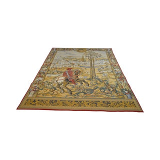 "Tapestries Ltd. Large Hand Woven Renaissance Style Wall Hanging 83"" X 107"" For Sale"