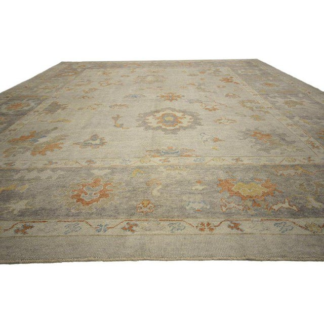 Contemporary Contemporary Turkish Oushak Area Rug - 11′2″ × 14′7″ For Sale - Image 3 of 8