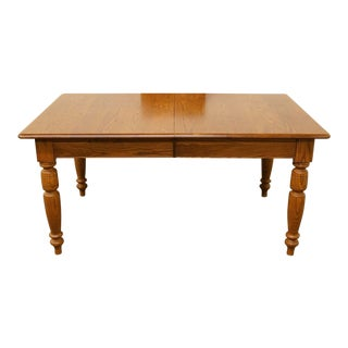 Late 20th Century Vintage Nichols & Stone Oak Dining Table For Sale