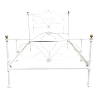 20th Century Early American Wrought Iron Bed For Sale