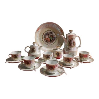 Erotic Vintage Colditz Tea Service Set From East Germany 1970's - Set of 24 For Sale