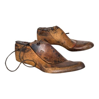 Antique Wood and Leather Shoe Last C.1920 For Sale