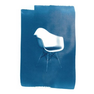 Limited Edition, Eames' DAW Chair, Cyanotype on Watercolor Paper For Sale