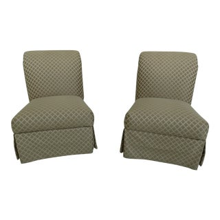 Custom Upholstered Living Room Occasional Chairs - a Pair For Sale
