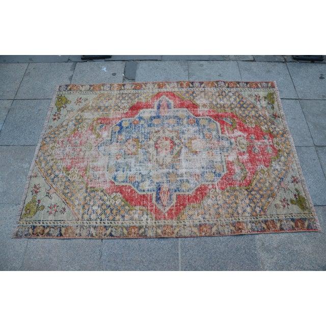 "Handmade Anatolian Tribal Rug -- 3'9"" x 5'3"" - Image 4 of 6"