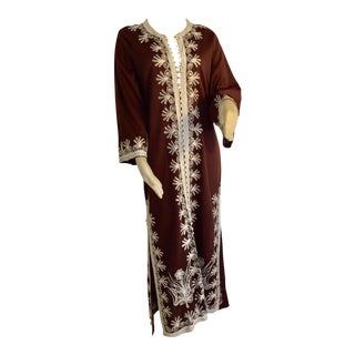 Moroccan Caftan, Maxi Dress Kaftan, 1970 Size Small For Sale