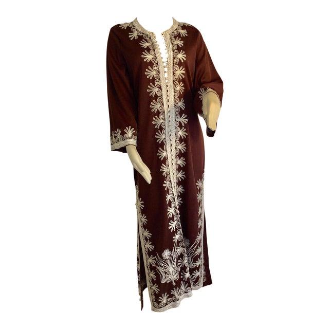 Moroccan Caftan, Maxi Dress Kaftan, 1970 Size Small For Sale