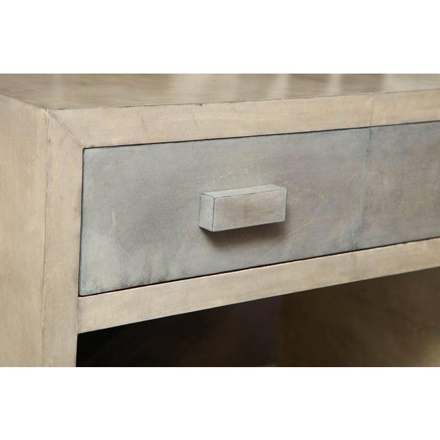 Paper Pair of Parchment Nightstands For Sale - Image 7 of 10
