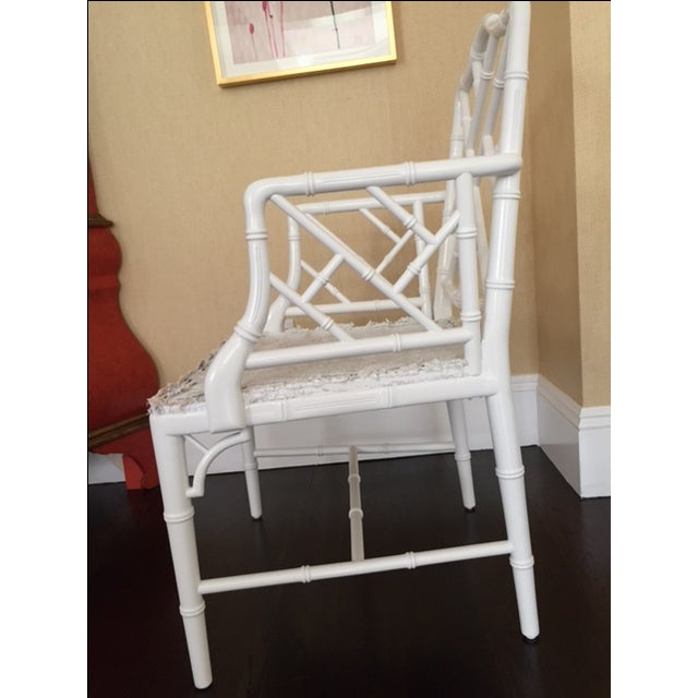 Chippendale Faux Bamboo Chairs - A Pair - Image 6 of 6