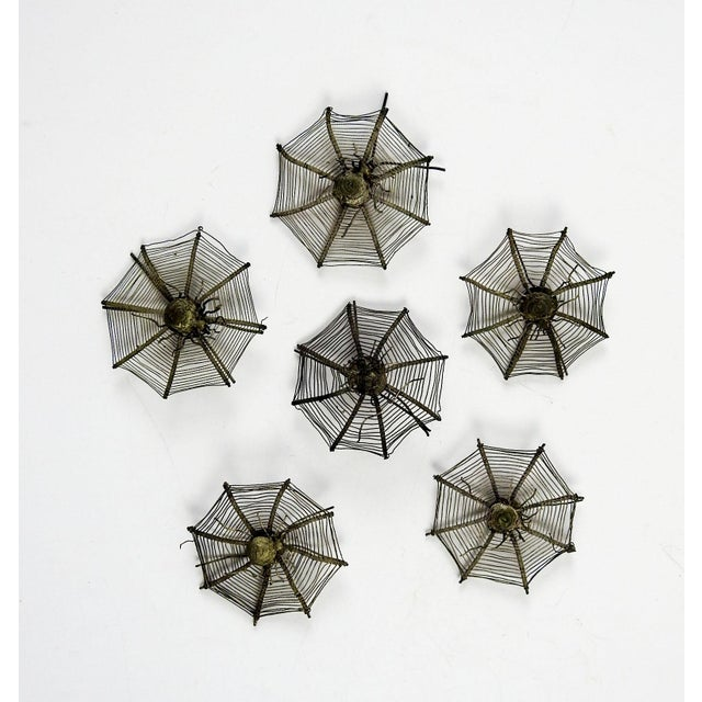 Silver Plate Spider Webs, 1920s - Set of 6 For Sale - Image 5 of 5