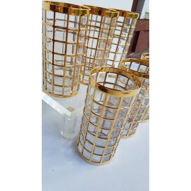 Jazz up your bar with these glamorous Highball Glasses with 22k Gold Raised accemts. Pattern is Toril De Oro by Imperial...